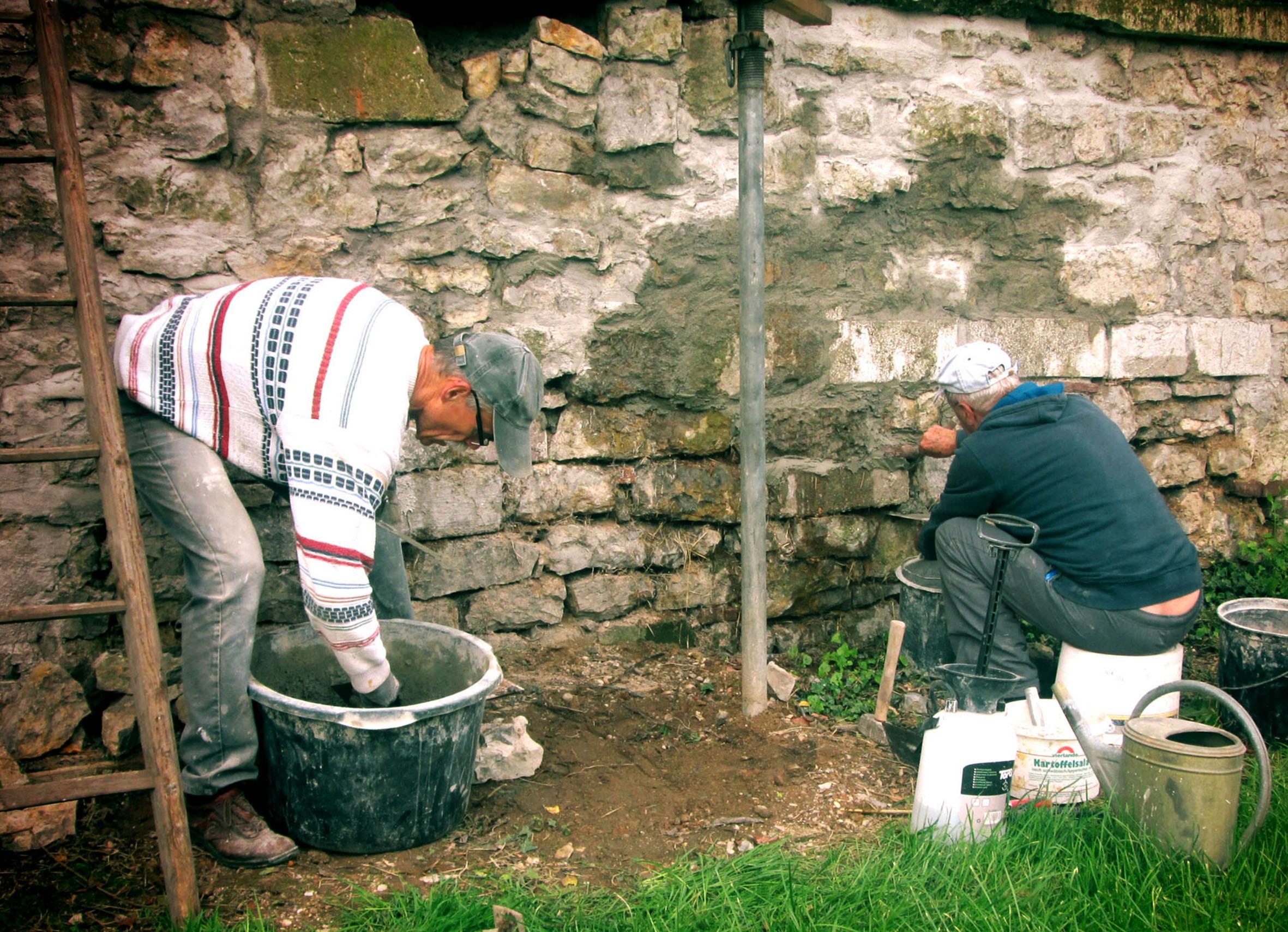 Sanierung der Außenmauer